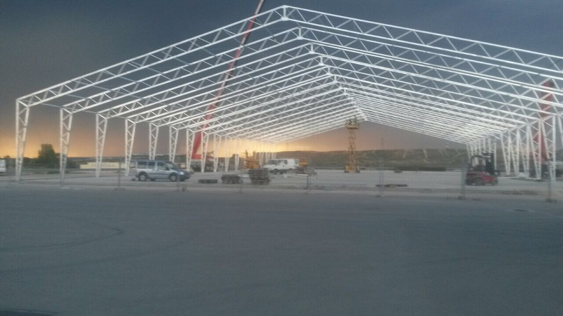 Fabric industrial structures